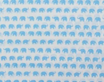 Fumika Oishi blue elephants - Fat Quarter