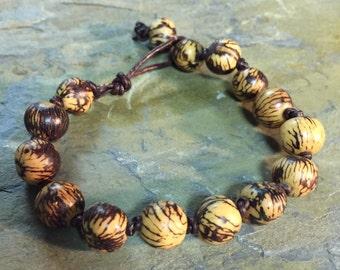 Natural acai nut bracelet