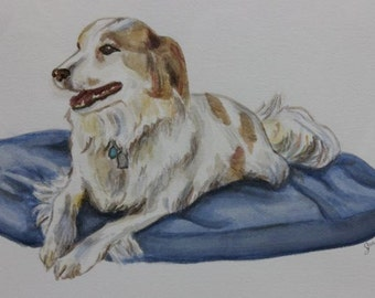 Watercolor  painting portrait of your dog or cat.