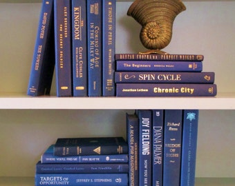 Books By The Foot Box Instant Library Multi Color Home Wedding Interior Design Collection Staging Realtor Production NAVY BLUE