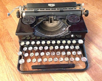 Royal Portable Typewriter With Ducks Inside the Keys. A one-of-a-kind!