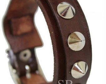SB PUNK leather bracelet handmade genuine leather wristband first class leather cuff wrist band