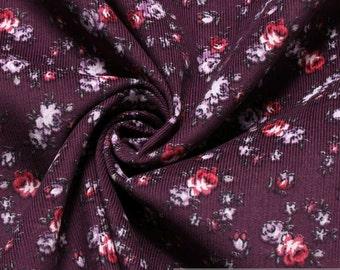 Fabric cotton corduroy purple Racherla corduroy cotton rose