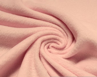 Fabric polyester fleece pink