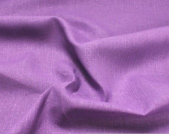 fabric pure linen lilac
