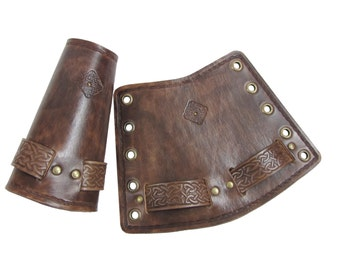 Hard leather celtic Bracers