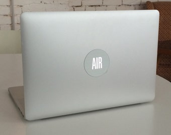 air - glowing, removable, reusable macbook stickers
