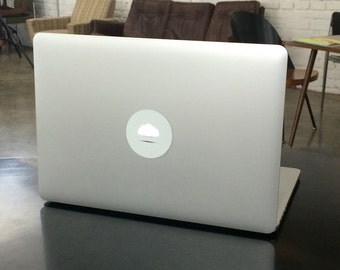 cloud - glowing, removable, reusable macbook stickers