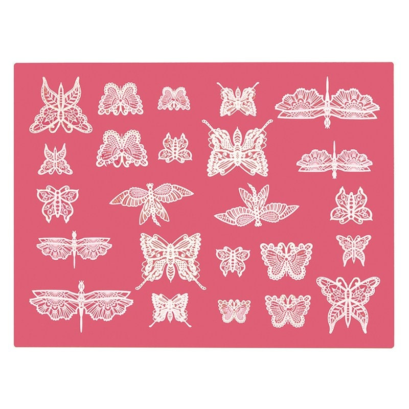 Claire Bowman Beautiful Butterflies Silicone Cake Lace Mat