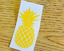 Yellow Pineapple, Yellow, Pineapple, Large, Choose Your Size, Custom, Vinyl, Decal, Sticker, Car, Computer, Hospitality, Host, Welcome