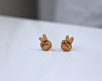 Peace Out Emoji Earrings