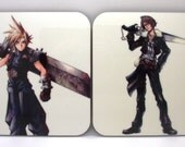 Set of 4 Hard Wood Final Fantasy Character Coasters. Free shipping to UK featured image