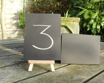 Table Numbers Mini Chalkboards and Easels Chalkboards Wedding Table Numbers Blackboards Ready To Ship
