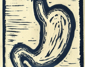 """Stomach Relief Print 4""""x4"""""""