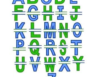 Split Block Font