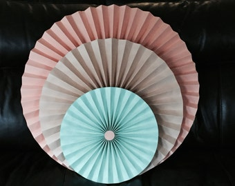 Paper Rosettes Pinwheels for event decor