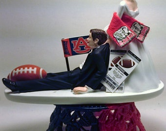 Funny Auburn Tigers VS Alabama Crimson Tide House Divided Bride and Groom