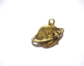 Globe Charm Map Charm World Charm Earth Charm  1 , 2 , or 5 Charm Jewelry Supplies Around The World Charms Jewelry Making Supplies Small Lot