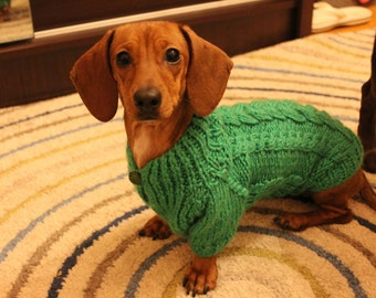 clothing for dog.dachshund clothes.Dog Sweater, Knit Dog Clothing