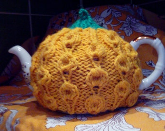 Teapot cosy, Tea pot warmers, Yellow-green hand knitted