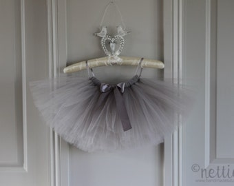 Girls silver grey tutu skirt
