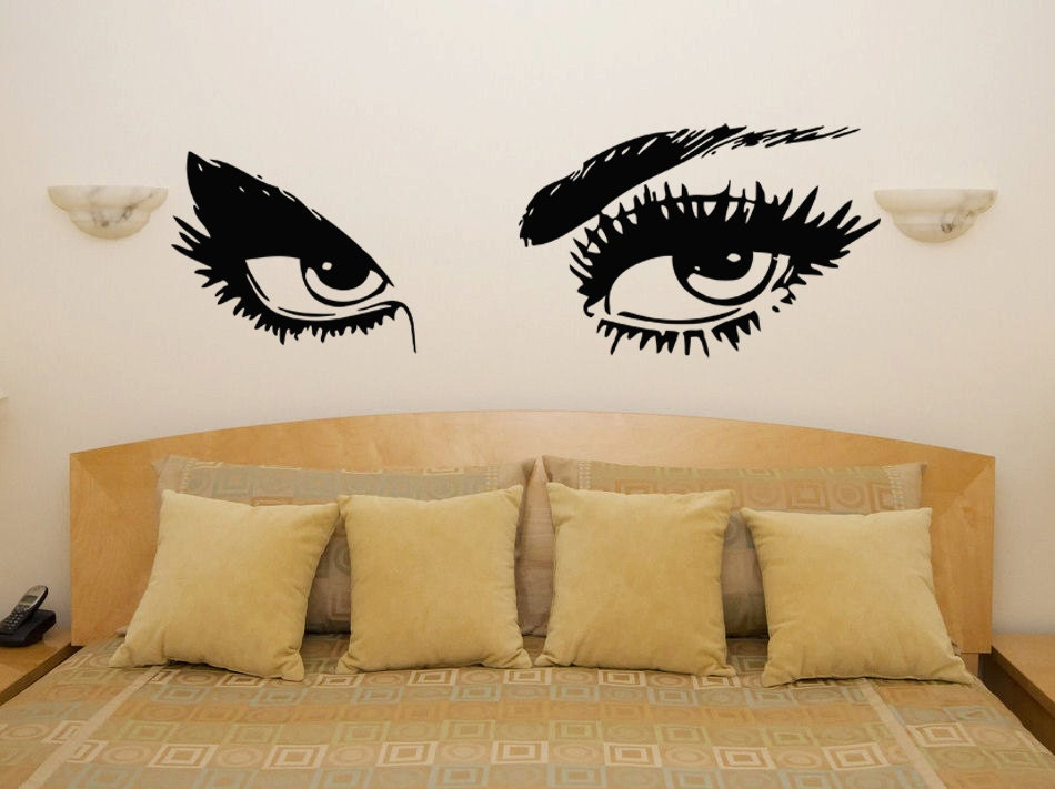 Sexy Eyes Bedroom Wall Art Sticker Picture Decal