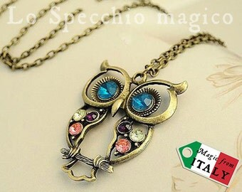 With lucky OWL vintage necklace