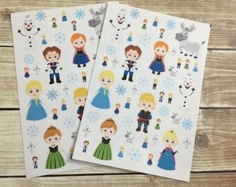 Ice Queen Stickers! 1 sheet, for your Erin Condren Life Planner, Plum Planner,  Filoflax, calendar or scrapbook!