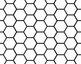 Honeycomb Pattern Vinyl Decal
