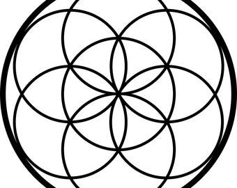Seed of Life Sacred Geometry Self Adhesive Vinyl Decal Sticker