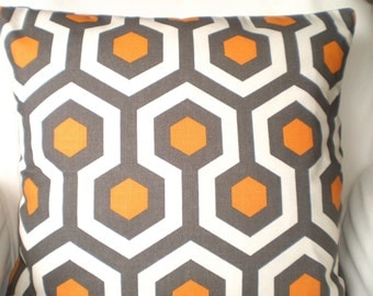 Orange Gray Decorative Throw Pillow Covers, Cushions, Couch Pillows, Cinnamon Magna, Cushions Euro Sham, Throw Pillow, One or More All Sizes