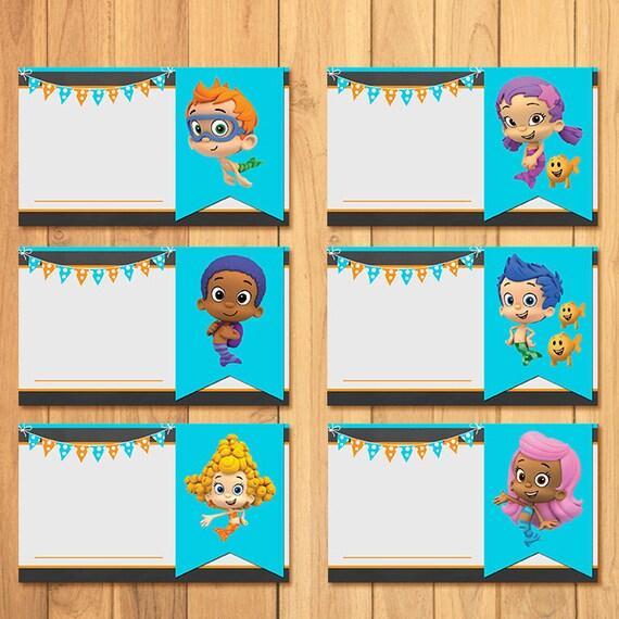 Bubble Guppies Food Tents Chalkboard * Bubble Guppies Birthday * Bubble Guppies Food Labels * Bubble Guppies Favors  sc 1 st  Etsy & Bubble Guppies Food Tents Chalkboard Bubble Guppies Birthday