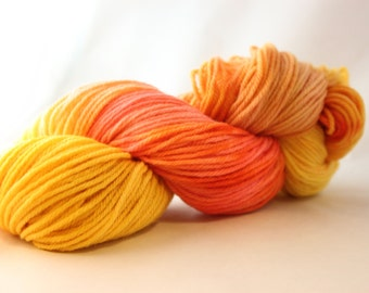 Hand Dyed Worsted Weight Peruvian Highland Wool Yarn - Rainbow Sherbert