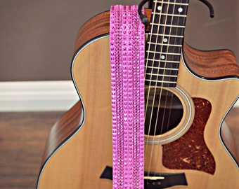 Pink Guitar Strap, Girls Guitar Strap, Guitar Straps, Cool Guitar Straps