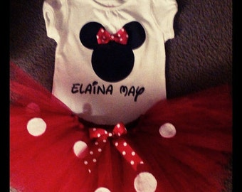 Minnie Mouse Inspired Tutu Outfit