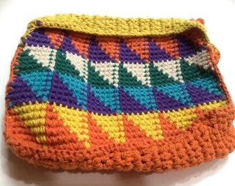 Handmade Crochet pouch- your travel companion.