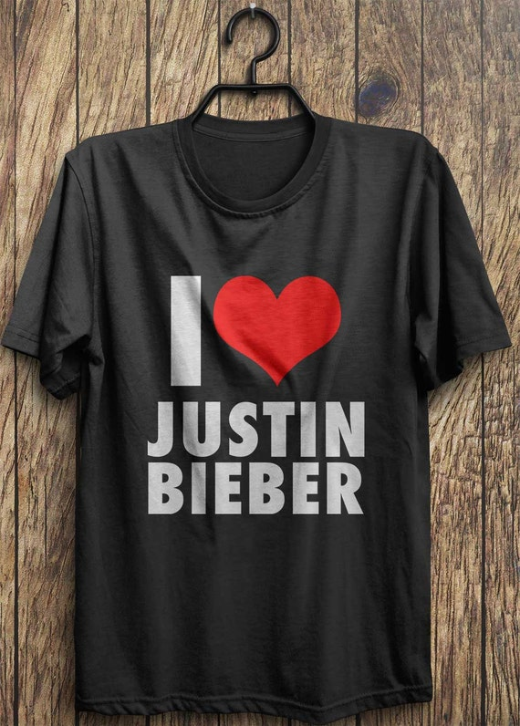 Love Justin Bieber T Shirt I Heart Justin Bieber T By