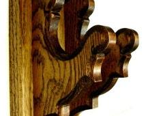 Oak Old Style Gun Rack Hangers Rifle Shotgun Wall Display