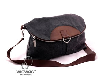 SALE 20% OFF Canvas bag, canvas backpack, women's canvas bag, shoulder bag, convertible messenger, crossbody canvas bag, leather canvas bag