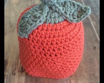 Pumpkin hat, pumpkin baby hat, pumpkin baby beanie, Halloween baby hat, orange and green