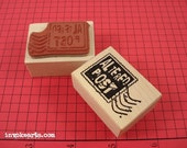 Altered Post Stamp / Postoid / Invoke Arts Collage Rubber Stamps