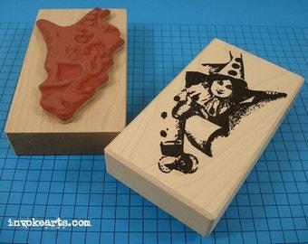Sheri Burst Stamp / Invoke Arts Collage Rubber Stamps