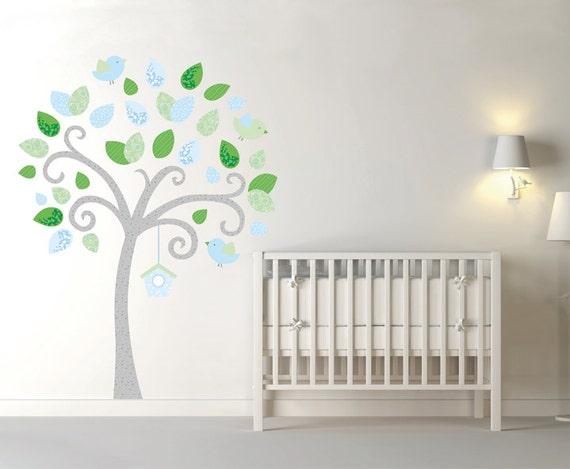 Albero adesivo da muro cameretta bambini wall decal wall - Wall stickers camerette ...