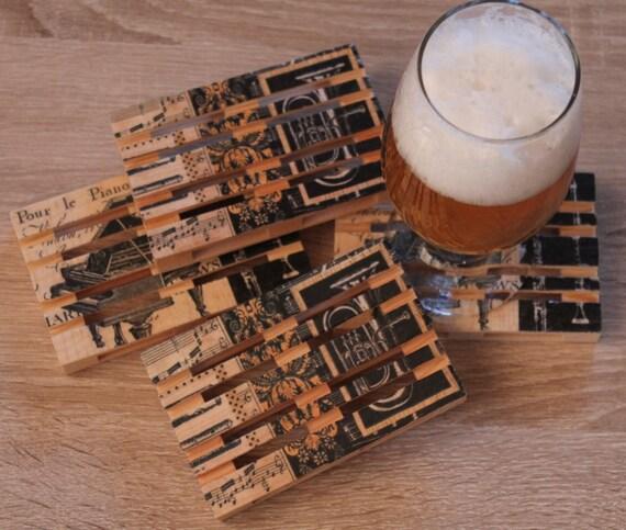 Unique Coasters Set Of 4 Pallet Coaster Mini By