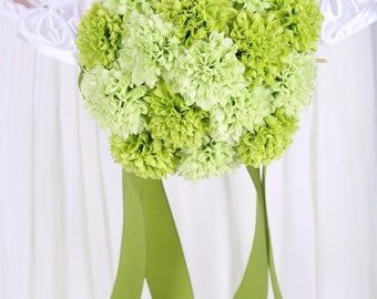 Chic green wedding bouquet, high quality green bridal bouquet, flower girl bouquet, wedding accessory, bouquet
