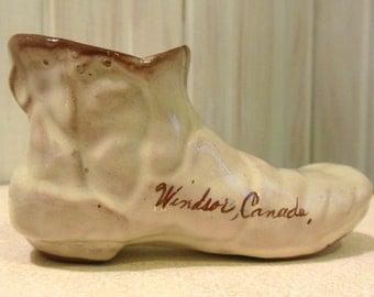 Vintage and Very Collectible Hand Crafted Ceramic Boot from Windsor Cananda