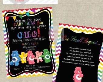 Care Bear Rainbow Party Invite