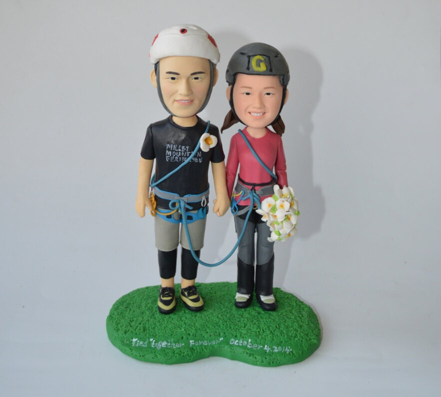 rock climbing wedding cake toppers wedding cake topper personalized rock climbing toppers 19248