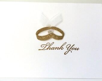 Wedding/Anniversary Thank You Cards, Handmade Cards, Thank You Cards, Wedding Thank You, Unique Thank You, Glittered Wedding, Luxury Card
