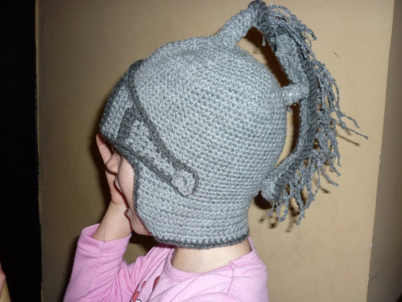 Free Knight Helmet Beanie Crochet Pattern Traitoro For